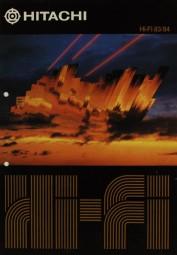 Hitachi Hi-Fi 83/84 Prospekt / Katalog