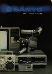 Sanyo HiFi. TV. Video. Portable. Prospekt / Katalog