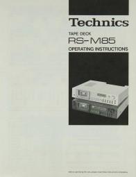 Technics RS-M 85 Bedienungsanleitung