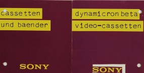 Sony Cassetten und Baender Prospekt / Katalog