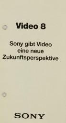 Sony Video 8 Prospekt / Katalog