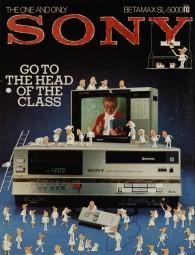 Sony Betamax SL-5000 Prospekt / Katalog
