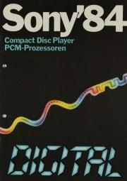 Sony Sony ´84 - Compact Disc Player / PCM-Prozessoren Prospekt / Katalog