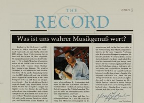 The Record Number IV Zeitschrift