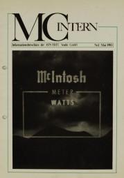 MC Intern Nr.1 - Mai 1983 Zeitschrift