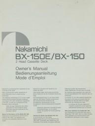 Nakamichi BX-150 E / BX-150 Bedienungsanleitung