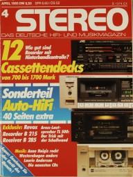 Stereo 4/1985 Zeitschrift