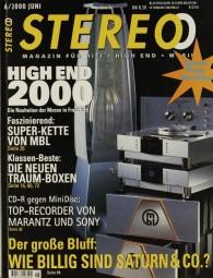 Stereo 6/2000 Zeitschrift