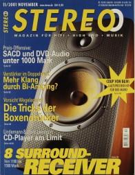 Stereo 11/2001 Zeitschrift