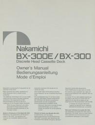 Nakamichi BX-300 E / BX-300 Bedienungsanleitung