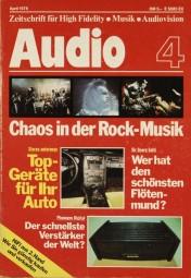 Audio 4/1978 Zeitschrift