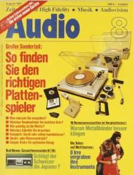 Audio 8/1981 Zeitschrift