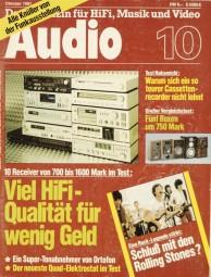 Audio 10/1981 Zeitschrift