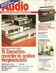 Audio 11/1983 Zeitschrift