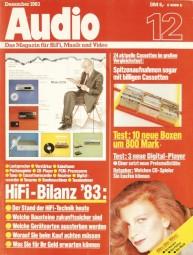 Audio 12/1983 Zeitschrift