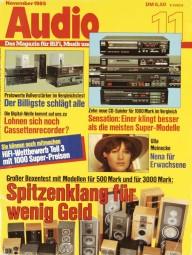Audio 11/1985 Zeitschrift