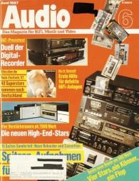 Audio 6/1987 Zeitschrift