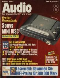 Audio 8/1992 Zeitschrift