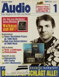 Audio 1/1993 Zeitschrift