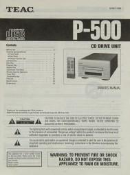 Teac P-500 Bedienungsanleitung
