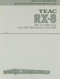 Teac RX-8 Bedienungsanleitung