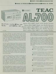 Teac AL-700 Bedienungsanleitung