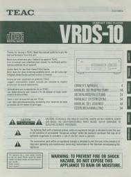 Teac VRDS-10 Bedienungsanleitung