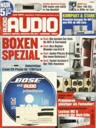 Audio 6/2003 Zeitschrift