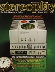 Stereoplay 1/1979 Zeitschrift