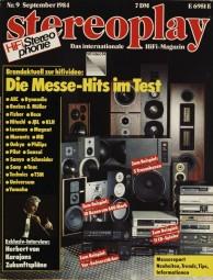 Stereoplay 9/1984 Zeitschrift