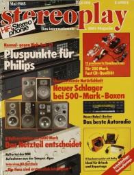 Stereoplay 5/1985 Zeitschrift