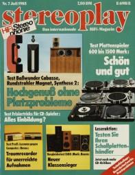 Stereoplay 7/1985 Zeitschrift