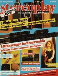 Stereoplay 8/1987 Zeitschrift