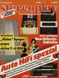 Stereoplay 4/1988 Zeitschrift
