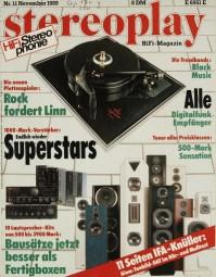 Stereoplay 11/1989 Zeitschrift