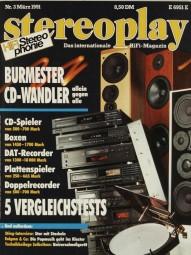Stereoplay 3/1991 Zeitschrift