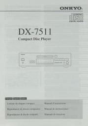 Onkyo DX-7511 Bedienungsanleitung