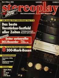 Stereoplay 3/1992 Zeitschrift