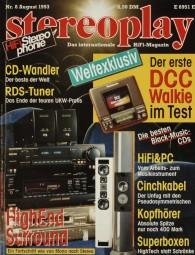 Stereoplay 8/1993 Zeitschrift