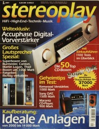 Stereoplay 1/1997 Zeitschrift