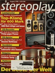 Stereoplay 8/1998 Zeitschrift