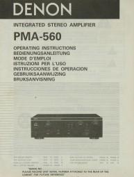 Denon PMA-560 Bedienungsanleitung