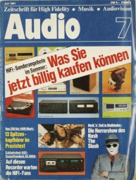 Audio 7/1981 Zeitschrift