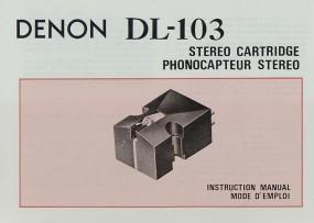 Denon DL-103 Bedienungsanleitung