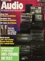Audio 11/1989 Zeitschrift