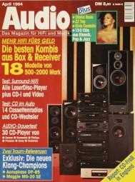 Audio 4/1994 Zeitschrift