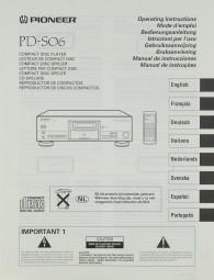 Pioneer PD-S 06 Bedienungsanleitung