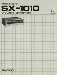 Pioneer SX-1010 Bedienungsanleitung