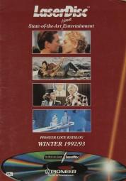 Pioneer Laserdiscübersicht 1992/93 Prospekt / Katalog