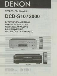 Denon DCD-S 10 / 3000 Bedienungsanleitung